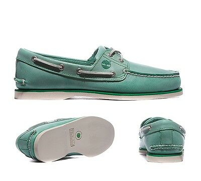 Mens Timberland Classic 2 Eye Amazon Green Boat Shoes RRP £104.99