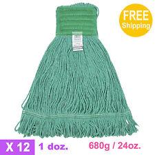 680g//24oz 1doz SunnyCare #22683 White Synthetic Cotton Loop-End Wet Mops 12//CS