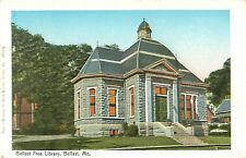 Belfast Free Library, Belfast, Maine Illuminated Postcard Made in Germany P1