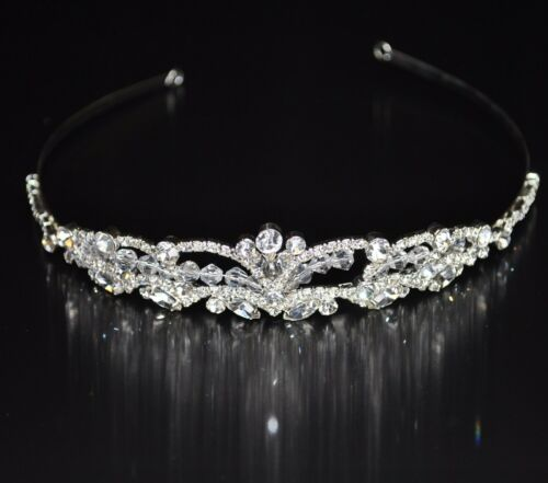 Tiara Diadem Flowers Crown Crown Hair Headband Bridal Rhinestone Wedding New