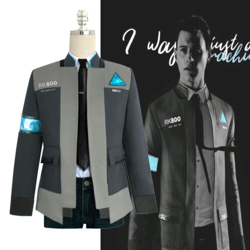 New Detroit Become Human Connor RK800 Cosplay Costume Men Coat Jacket Outfit