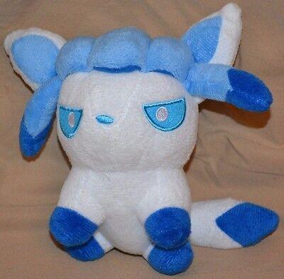 "7.5/"" Sitting Glaceon # 471 Plush Dolls Toys Stuffed Animals Takara Tomy Version"