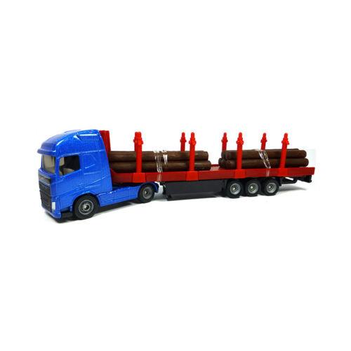 Siku 1659 Volvo Holz-Transport-LKW blau Modellauto NEU Blister °