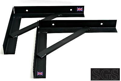 Heavy Duty Steel Gallows Brackets Strong /& Reinforced 300x300x5 chimney support