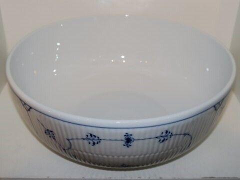 Porcelæn, Musselmalet Riflet  Kæmpe jubilæumsbowle