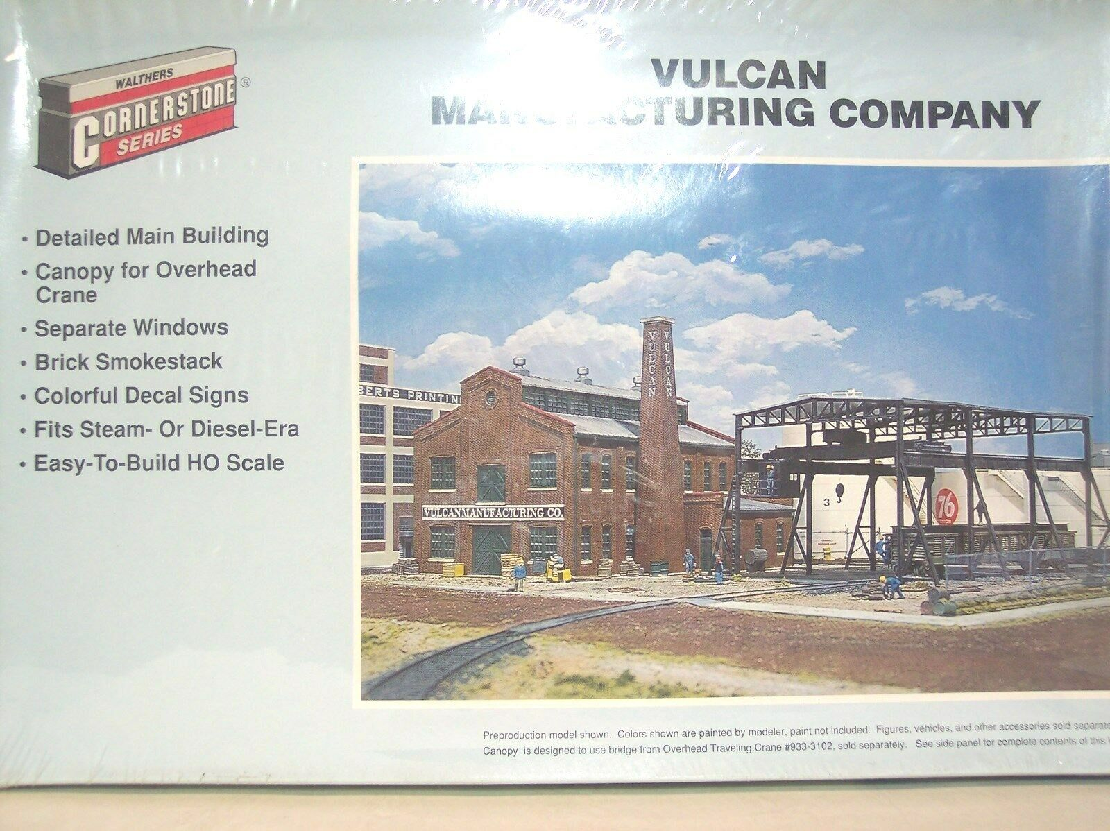 HO WALTHERS CORNERSTONE KIT VULCAN MANUFACTURING COMPANY BUILDING STILL SEALED