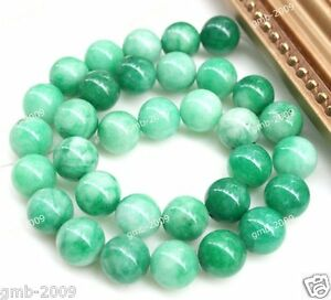 6mm-8mm-10mm-12mm-14mm-Natural-Green-Jade-Round-Gemstone-Loose-Beads-15-034-AAA