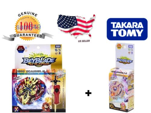 TAKARA TOMY Beyblade burst B-48 Xeno Xcalibur.M.I ATTACK FS B-71 Acid Anubis