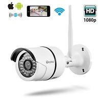 Bullet Security Camera Wireless Wifi Ip 1080p Surveillance Indoor Outdoor Ir