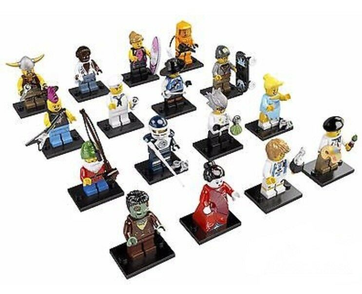 LEGO 8804 Completed Set of 16 Minifigures Series 4 Nuovo