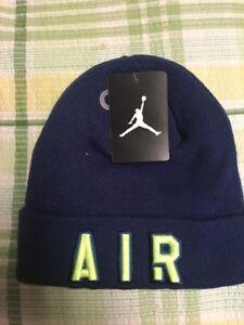 e318fa10c4d Mens Air Jordan Cuffed Beanie Winter Hat 9A1709-U87 Insignia Blue ...
