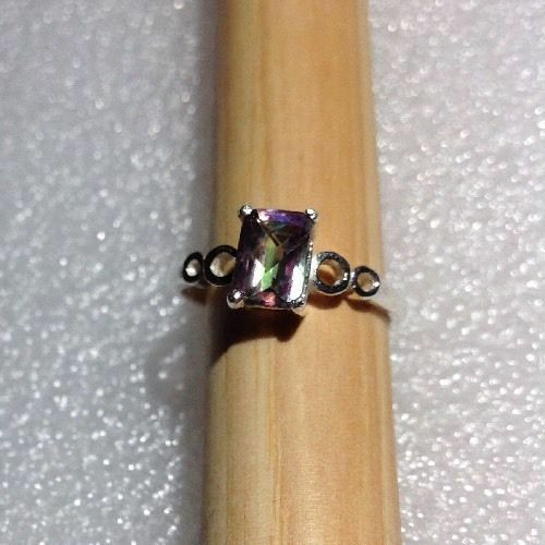 Andensine Sterling Silver Natural Gemstone Solitaire Ring *VARIETY* Ruby Topaz
