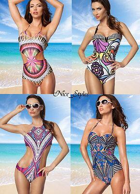 Häkel Netz Bügel Monokini Bandeau Bikini Swimsuit* XS S M L XL-34 36 38 40 42
