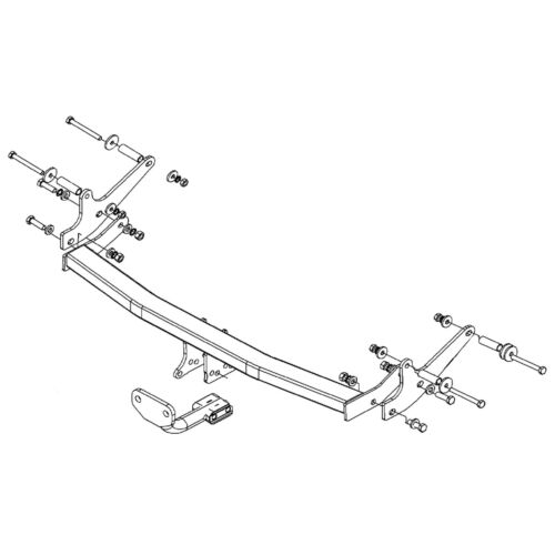 Witter Towbar for Renault Grand Modus 2008-2012 Flange Tow Bar