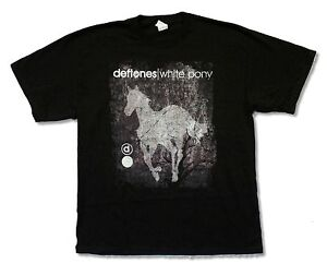 Deftones-White-Pony-Distressed-Black-T-Shirt-New-Official