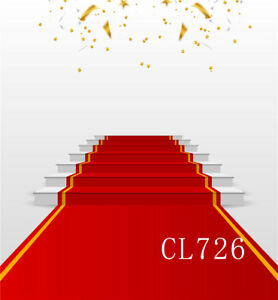 white podium with red carpet 5x7ft vinyl studio backdrop photography