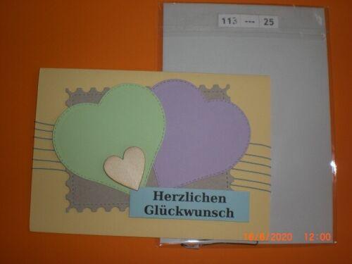 113 - 19-27 Geburtstag Glückwunschkarten selber gebastelt mit Umschlag P
