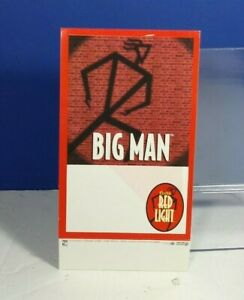 1995-COORS-BEER-RED-LIGHT-BIG-MAN-ADVERTISING-TABLE-TOP-CARD-TENT