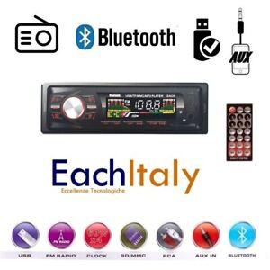 STEREO-AUTO-BLUETOOTH-AUTORADIO-VIVAVOCE-RADIO-FM-MP3-USB-AUX-SD-CARD-250w-1din