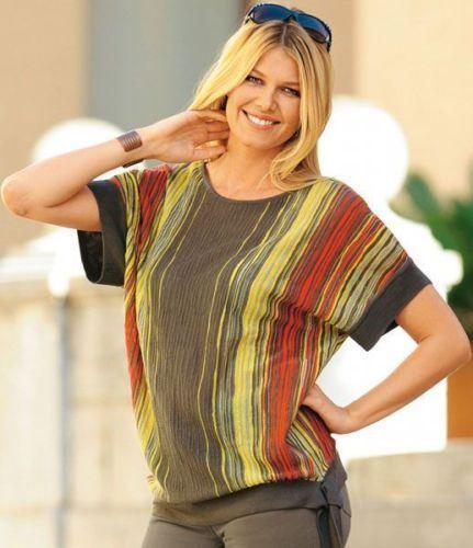 BLANCHEPORTE Shirt BLANCHE PORTE Pullover NEU khaki bunt