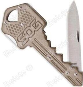 Sog-Cle-Couteau-Laiton-Couteau-Dossier-420J2-Acier-4-034-20-7ml-KEY102-CP-Nouveau