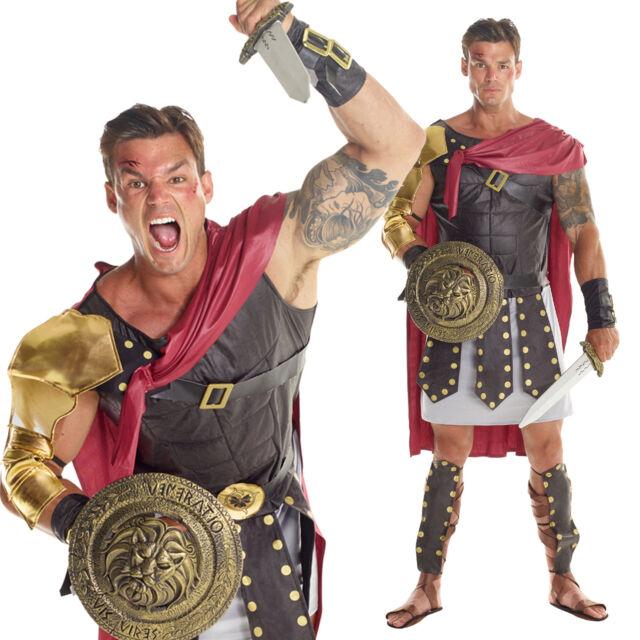 Helmet Mens Fancy Dress Ancient Greek Warrior Adults Costume Roman Gladiator