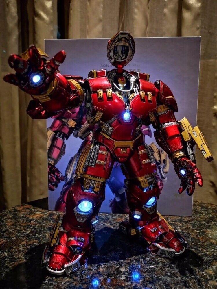 Nuevo comicave 1 12 Escala Figura De Acción Iron Man MK44 Aleación LED Hulkbuster Modelo