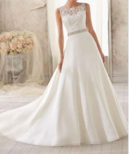 2019 New White//Ivory Wedding Dress Bridal Gown Size 6-8-10-12-14-16