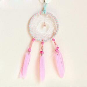 Handmade-Bad-Dream-Catcher-Pink-Feather-Kids-Room-Wall-Hanging-Decoration