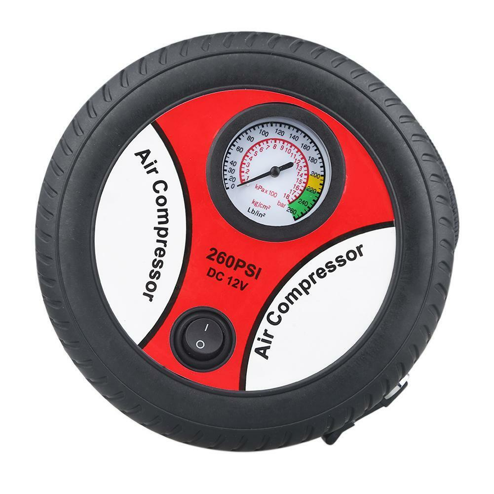 Brandneu Reifenpumpe 12V Auto Luftkompressor Pumpe für Auto Fahrrad