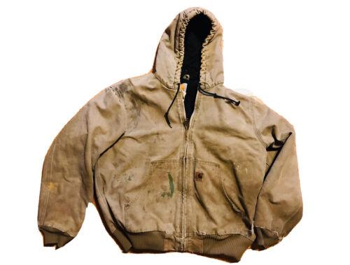 Carhartt Large Regular Thrashed Distressed Hooded