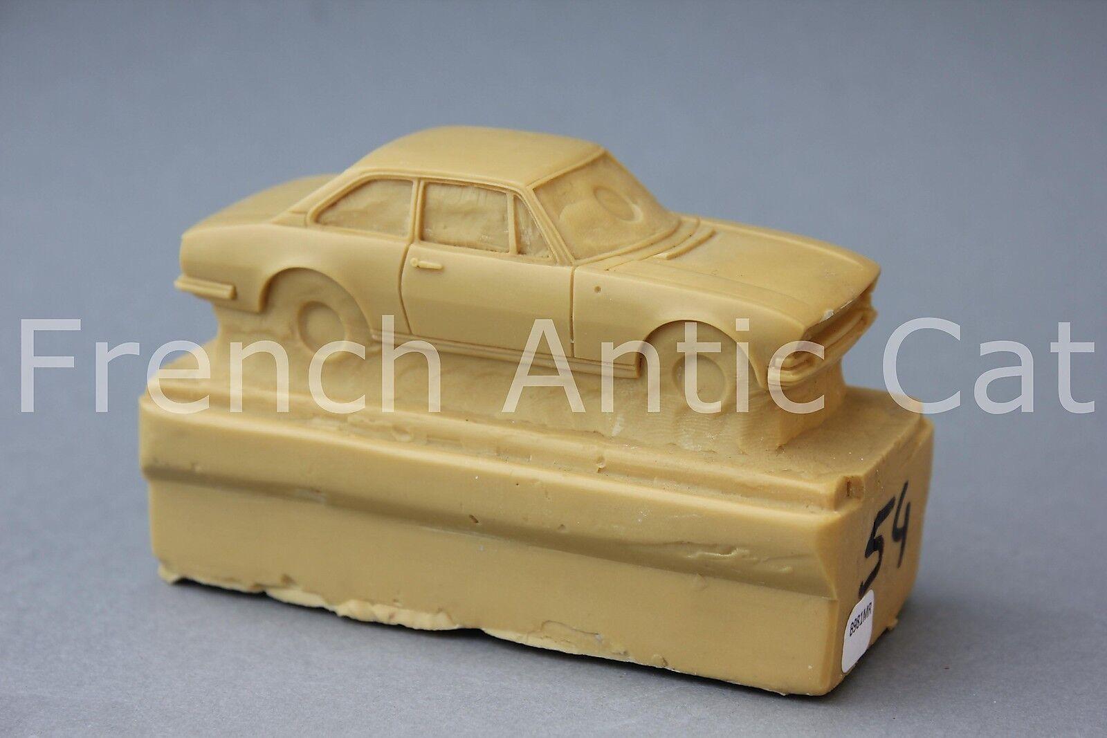 Raro Modelo Matrix Resina Coche Peugeot 504 Coupé 1 43 Heco Colección Mr