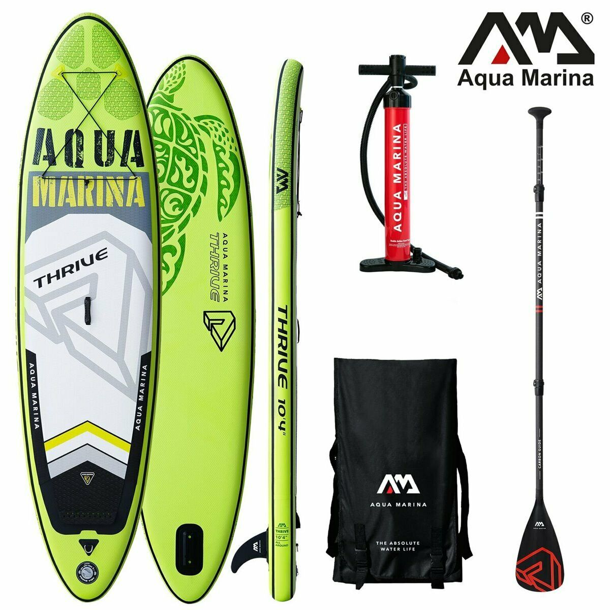 Aqua Marina Thrive Sup Gonfiabile Ste Up Paddle Tavola 150mm Spesso autobonio