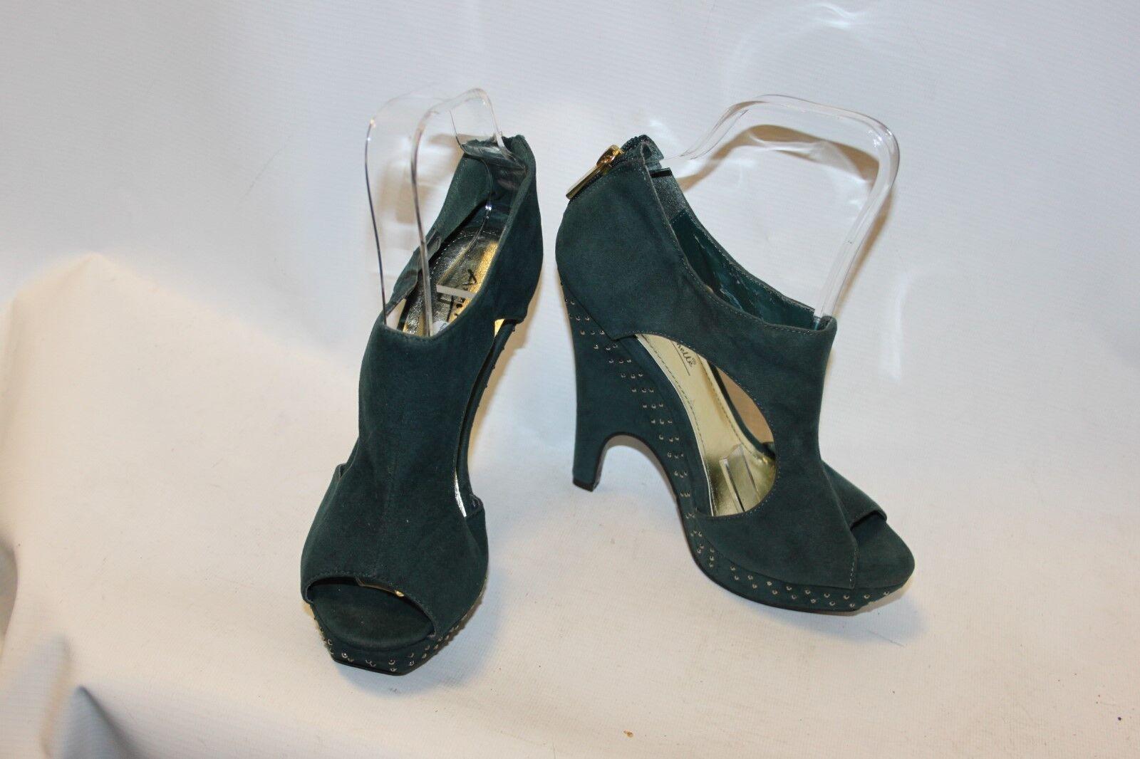 Moda jest prosta i niedroga Ladies Green Studded High Heel Shoes Size 36 UK Anne Michelle