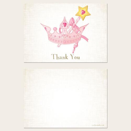 Princess Tiara Kids Children/'s Thank You Cards Pack of 10