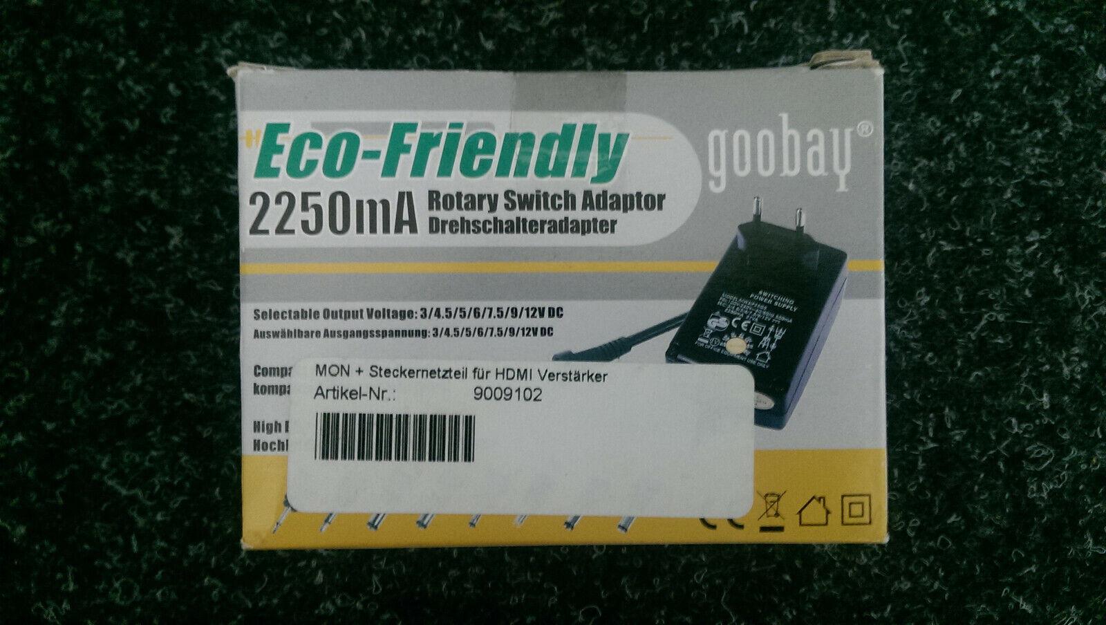 Universal-Netzteil Basic 3V-12V 2,25A 27W 8xDC-Adapter schwarz 1,8m