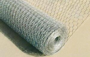 2FT Chicken Rabbit Wire Fencing 600mm 1/2 inch hole 50 meter roll  GALVANISED