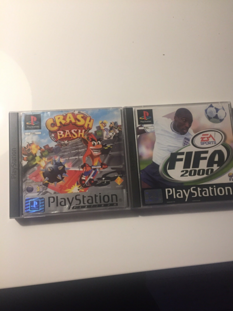 Crash bash og FIFA 2000, PS, anden genre, Crash bash og…