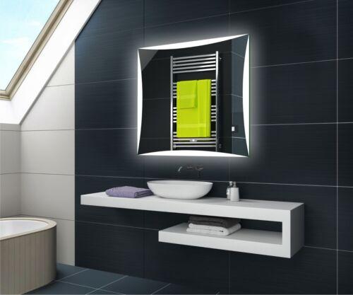 Badspiegel mit LED Beleuchtung Wandspiegel L77 mit Touch /& Sensor Schalter
