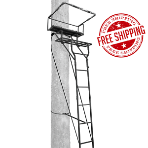 Ladder Tree Stand 15 Feet Two Person 2 Seat Deer Turkey