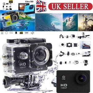 2'' 1080P HD Sports Camera Mini DV Carry Case Bundle Action Camcorder SJ4000 UK 7089098357688