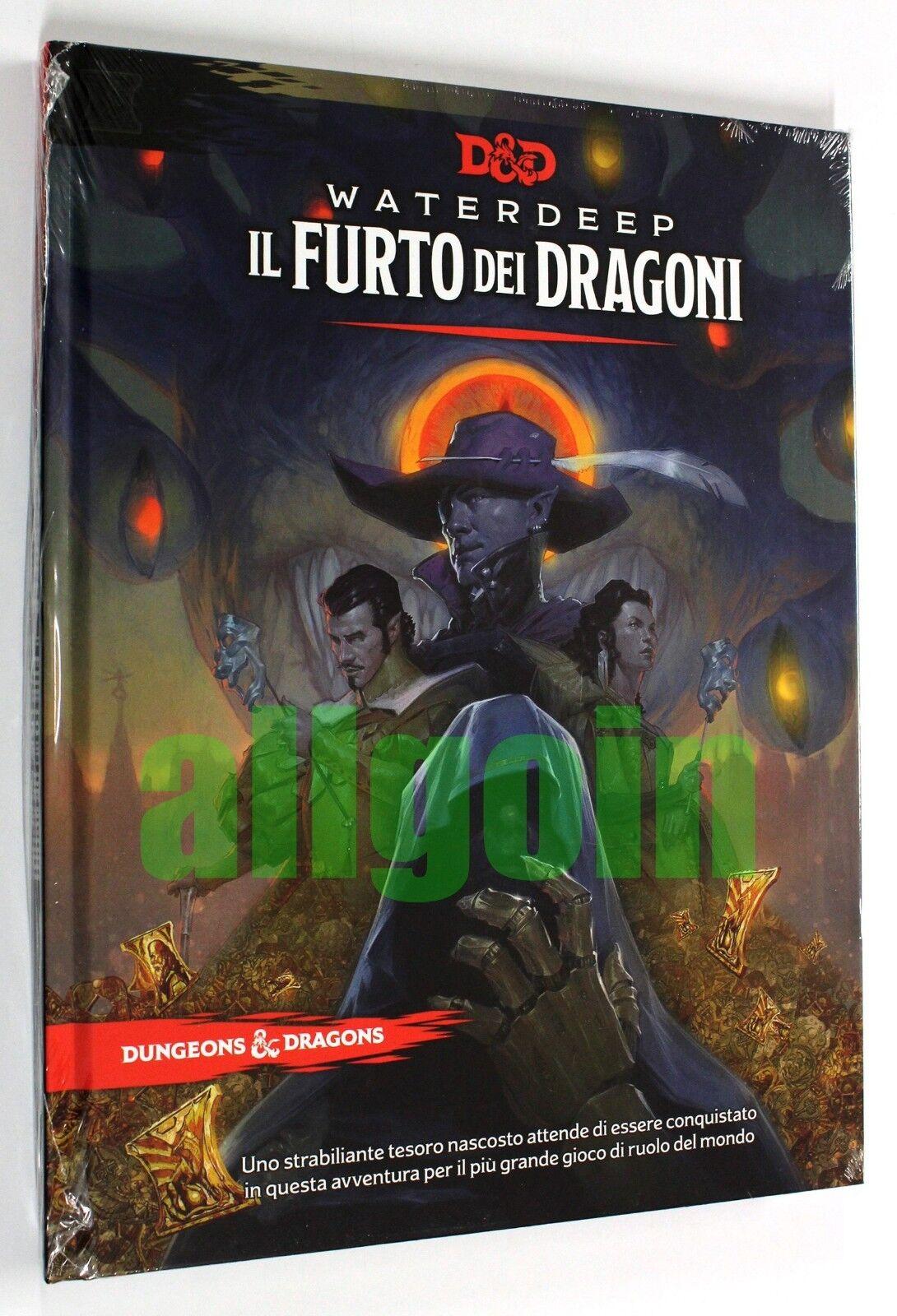 Dungeons & Dragons  WATERDEEP IL FURTO DEI DRAGONI D&D 5e 5^ EDIZIONE AVVENTURA  comodamente