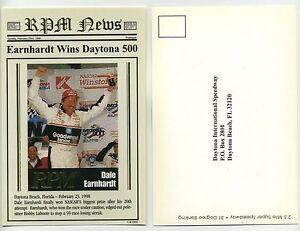 Dale Earnhardt 1998 Daytona 500 ganador-Ballstreet Rpm Postal