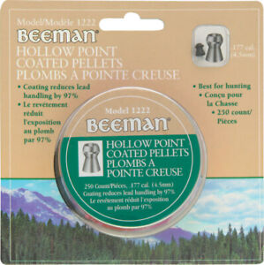 Beeman .177 Caliber 250pc Hollow Point Coated Air Rifle Pellets 1222