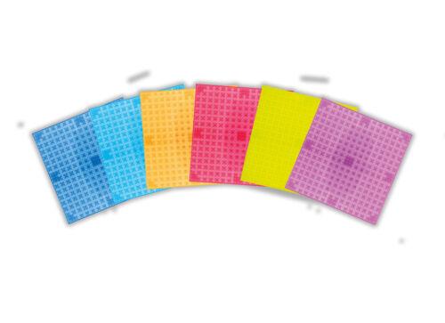 6er Set Bauplatten Transparent Basic Pretty Pink  25 x 25 cm NEU