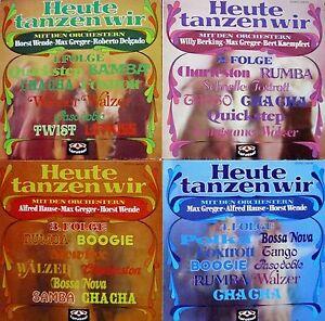 4-LPs-Heute-tanzen-wir-Folge-1-2-3-u-4-Orchester-Greger-Hause-Wende-u-a