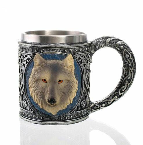 3D Mug Skull Skeleton Knight Wolf Cup for Tea Milk Coffee Beer Red Wine Whiskey