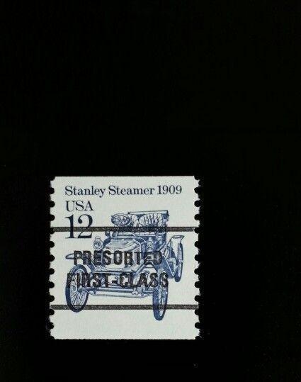 1985 12c Stanley Steamer, Coil Scott 2132a Mint F/VF NH