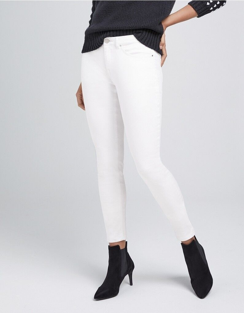 The White Company Symons Skinny White Jeans Size 12 RRP