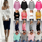 Fashion Womens Oversized Sweater Long Sleeve Baggy Jumper Tops Pullover Knitwear